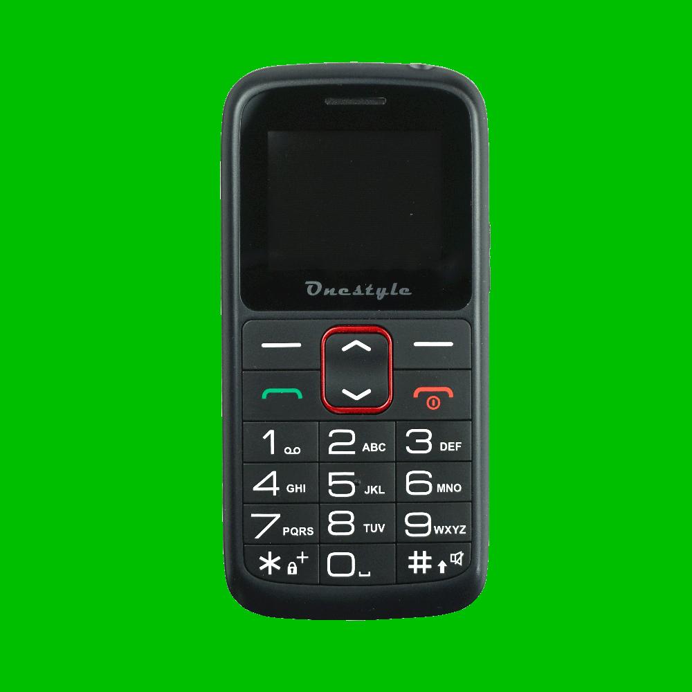 Onestyle Silver Senioren Dual-SIM Mobiltelefon